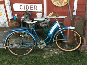 Vtg Girls  1940s Road Master  Bicycle Skip Tooth Sprocket, Gas Tank, Garden Art
