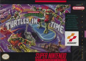 Teenage Mutant Ninja Turtles 4 Turtles In Time SNES Great Condition