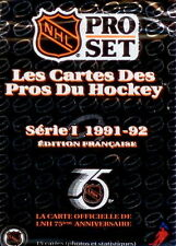 Pro Set French-1991-92 NHL-12-Sealed Packs-Series 1& 2