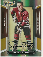 2008 DONRUSS SPORTS LEGENDS GOLD PIERRE PILOTE AUTO /25