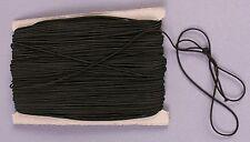 (0,10€/m) Gummiband Gummilitze Rundgummi Gummikordel Ø1mm, schwarz. Menge10m 25m