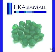 20 Swarovski Crystal Beads 5301 PALACE GREEN OPAL 6mm