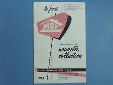 CATALOGUE  MGF  1964  GARAGE  STATION  CHATEAU   FERME  VROOM  REPRO