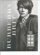 2011 Burberry Brit Fragrance for Men Original Magazine Print Ad