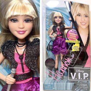Disney V.I.P. HANNAH MONTANA Doll Barbie Teen Extremely Rare VIP Miley Cyrus NIB
