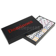 Double Six Domino Set of 28 Pcs Board Kid Travel Game Toy Colorful Dot White