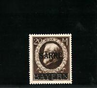 Germany 1920 - Dt. Abstimmungsgebiete Saar Michel D 31 Pr.1600 00 € MNH SIGNED