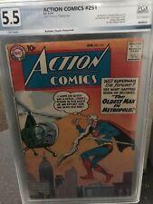 Action Comics #251 PGX Graded 5.5, Last Tommy Tomorrow, Superman