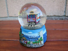 "San Francisco Snow Globe Dome Cable Car Golden Gate Bridge 3.5"" Souvenir"