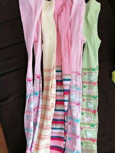 Leggings 5x im Paket Gr. 134 /140 Strick-Leggings in Pastelltöne rosa bunt