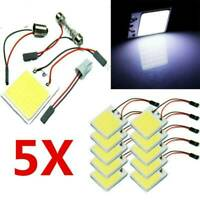 5 X New White 48 SMD COB LED T10 4W 12V Car Interior Panel Light Dome Lamp Bulb