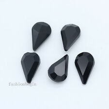 20pcs 13x8mm color glass Rhinestones pointed back Foiled Crystal Teardrop jewels