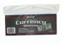 BCW Currency Sleeves - Regular Bill, 100 pack