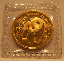 China 1986 Gold 1/10 oz Panda 10 Yuan Original Mint Sealed BU