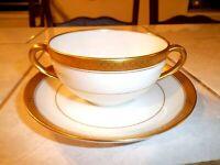 Noritake Cream Soup Bouillon Cup Bowl and Saucer WASHINGTON