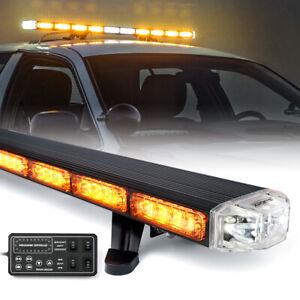 "Xprite 48"" Heavy Duty Amber LED Strobe Light Roof Top Emergency Warning Fog Lamp"