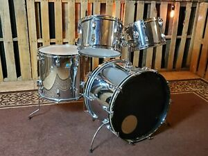 LUDWIG vintage 70's Vistalite Drum set Unique Chrome over Vistalite