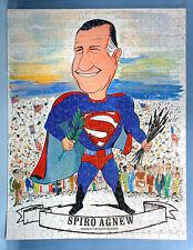 1970 Spiro Agnew as Superman Jigsaw Puzzle Friend of the Silent Majority w/Box