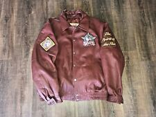 Vintage NLBM J-Head Negro League Baseball Leather Jacket Size 3XL XXXL