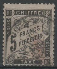 "FRANCE STAMP TIMBRE TAXE N° 24 "" TYPE DUVAL 5F NOIR "" OBLITERE TB A VOIR  N133"