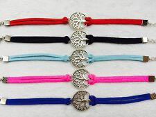 HOT 5Pcs mix Infinity leather Bracelet Faux Suede Friendship Eternal !Tree