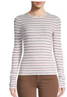 NWT Vince Stripe Wool Lightweight Sweater, Medium, MSRP $235
