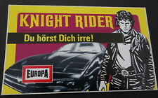 Aufkleber EUROPA Knight Rider David Hasselhoff Hörspiel-Cassetten 1982 Sticker 4