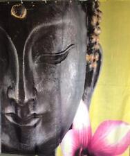 Zen bouddha pétales de fleurs rideau de douche 180cm x 200cm polyester avec crochets