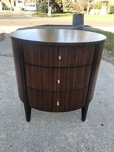 Ethan Allen Rosewood Drum Table. Great Condition.