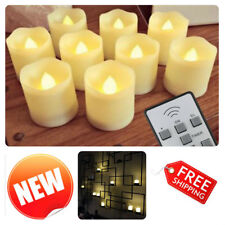 Flickering Flameless LED Candles Electric Fake Tea Light with Timer Remote 9 Pcs