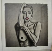 Huge Lady Gaga nude (#2 of pair) Painting in Artists Oils on canvas by J. BLAH