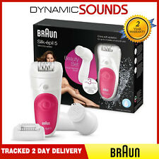 Braun Silk Epil 5 5-539 Wet/Dry Cordless Epilator + Facial Brush, Ladies Shaver