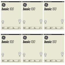 (6 Pack) Nuevo Ge 41034 100 vatios 1710-Lumen A19 bombilla de luz, bombillas de 4