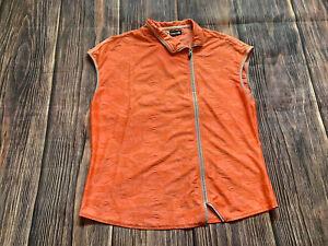 Women's Jamie Sadock Golf Shirt Pullover Fill Zip Top Shirt Size Large NICE