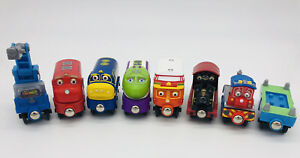 8pc lot Wooden Chuggington Trains Decka Calley Wilson Brewster Koko Camera Car
