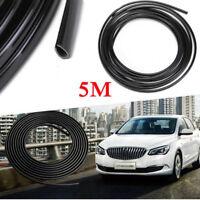 16FT/5M Black Rubber Strip Car Door Edge Protector Moulding Trim Guard Trim New