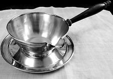 Frank M Whiting brandy warmer & plate 1600 sterling silver saucier / pipkin