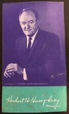 1968 Green Bay Packers Pocket Schedule Hubert Humphrey Muskie