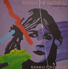 """MARIANNE FAITHFULL - RUNNING FPR NOTRE LIVES Single 7"""" (I162)"""