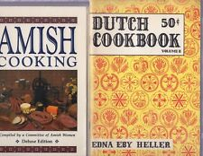 2 PENNSYLVANIA DUTCH/AMISH COOKBOOKS COOK BOOK (SC/EDNA EBY HELLER)