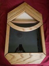 American Flag Display Case Veteran Military Shadow Wood Box Burial Funeral