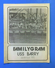 1975 Uss Barry (Dd 933) Familygram Booklet - Cdr G. F. Streeter - Commandng Off.