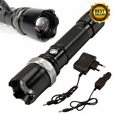 Tactical Police Heavy Duty 3W Rechargeable Flashlight With Car Wall Charger
