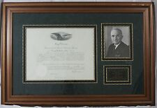 Harry S. Truman - Document Signed as President; DS, Framed, Autograph, Signature