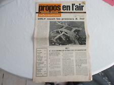 """Journal """" Propos en l'air """" - aéroport de Paris, bulletin du personnel - 1970"""