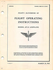 1943 AT-19 Flight Operating Instructions Pilot's Handbook Flight Manual -CD