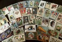 Lot of 50~Holiday Greeting Postcards~Christmas~Valentine~Thanksgiving~Santa~c99