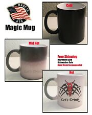 Coffee Let's Drink Magic Mug, Coffee Cup mug Heat Color Changing Cup Gift