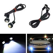 2 Pcs Car Motorbike Eagle Eye White Lamp LED 9W COB DRL Fog Light Daytime Lights