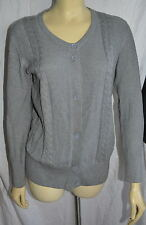 LACOSTE Gray Cotton Button Down Cardigan ladies size 42
